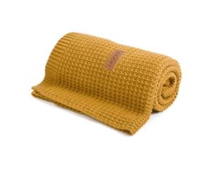 Poofi Kocyk tkany Organic&Color miodowy