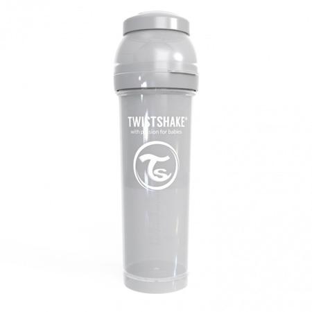 Twistshake Antykolkowa butelka do karmienia 330ml pastelowy szary