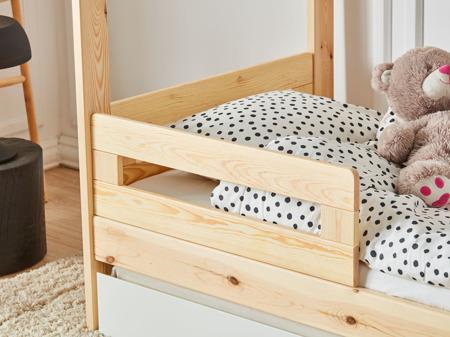 Barierka ochronna do łóżka domek 200x90 2szt Simple drewno Pinio