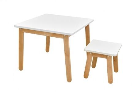 Bellamy Zestaw Stolik i krzesełko Woody PURE biały