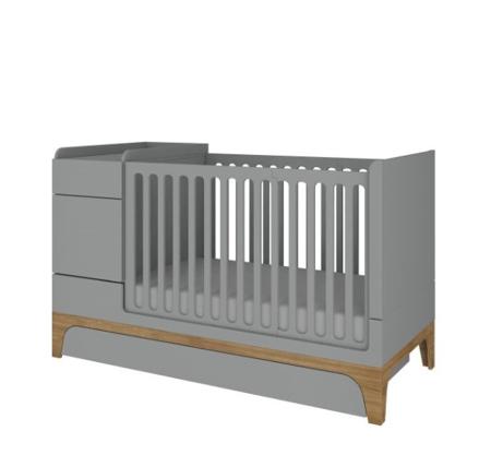 Bellamy łóżeczko UP 70x120 rozkładane do 70x160 + biurko grey