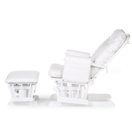 Childhome Fotel pływający do karmienia z podnóżkiem biały okrągły