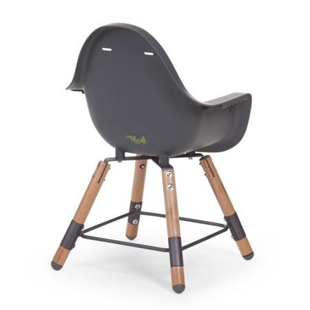 Childhome Krzesełko do karmienia 2w1 Evolu 2 drewno - antarcyt
