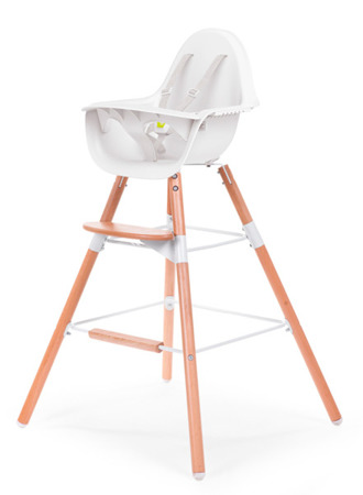 Childhome Podwyższenie krzesełka + podnóżek do Evolu 2 drewniany