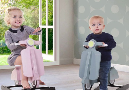 Childhome Stylizowany bujak - skuter różowy