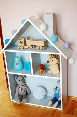 Domek dla lalek regał XXL szary