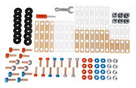 Drewniany zestaw konstruktora Brico 100 elementów Janod