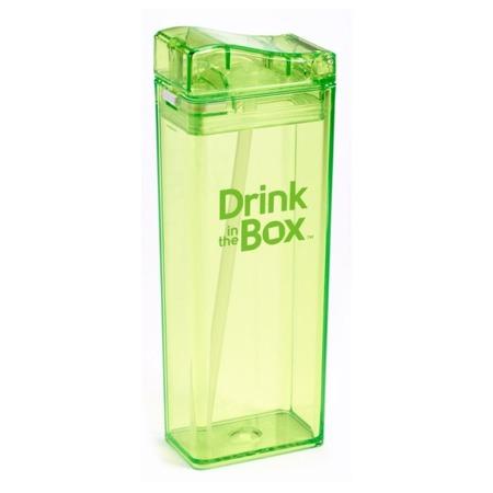 Drink In The Box Bidon ze słomką 350 ml green