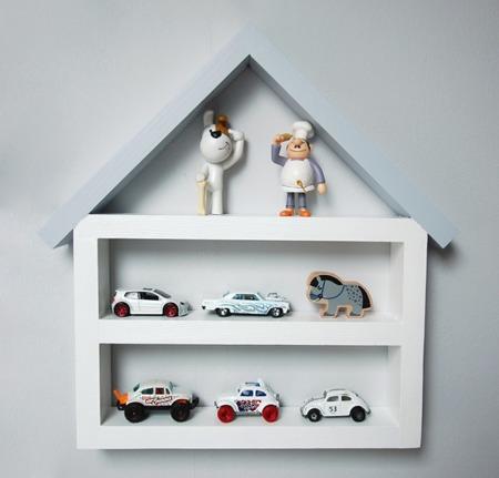 Dziecięca półka Garaż domek mały