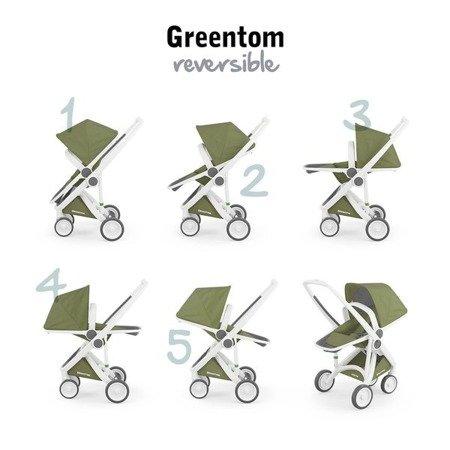 Greentom REVERSIBLE Wózek spacerowy eko biało-granatowy