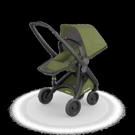 Greentom REVERSIBLE Wózek spacerowy eko czarno-oliwkowy