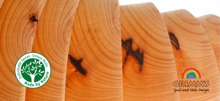 Grimm's Tęcza drewniana pastelowa 12 elementów
