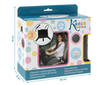 KioKids bezpieczny adapter do pasa samochodowego dla kobiet w ciąży