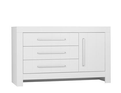 Komoda 3-szuflady + 1-drzwi Biała Pinio Calmo
