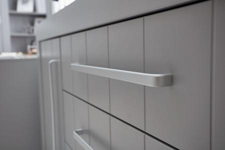 Komoda 3-szuflady + 1-drzwi Szara Pinio Calmo