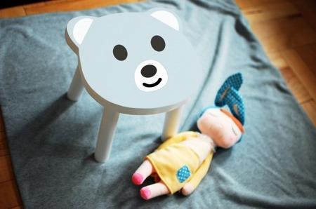 Krzesło dziecięce miś
