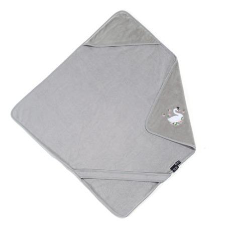 La Millou Ręcznik Bamboo Soft Newborn Moonlight Swan grey
