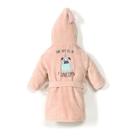 La Millou Szlafrok Bamboo Soft S Doggy Unicorn powder pink