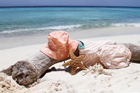Lassig Kostium do pływania dwuczęściowy z wkładką chłonną Sailor peach UV 50+ 24m-ce