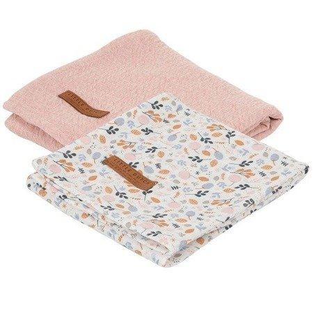 Little Dutch Otulacze 70 x 70 cm Pure pink / Spring Flowers