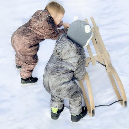 Lodger Skier Botanimal Kombinezon zimowy dla niemowlaka Nutty Fur 12-18 m-cy