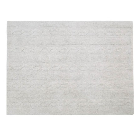 Lorena Canals Trenzas Pearl Soft Grey 120x160cm