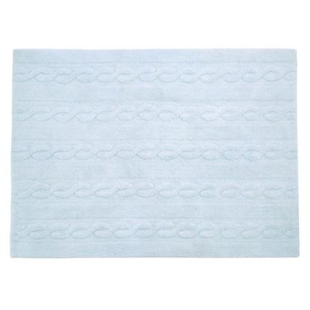 Lorena Canals Trenzas Soft Blue 120x160cm