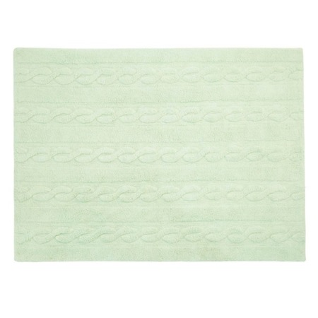 Lorena Canals Trenzas Soft Mint 120x160cm