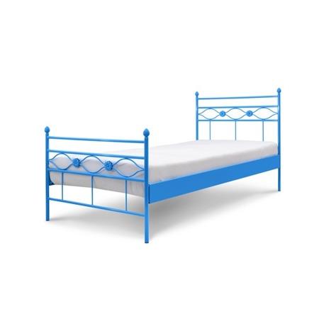 Łóżko metalowe dziecięce Floris 90/200 niebieskie