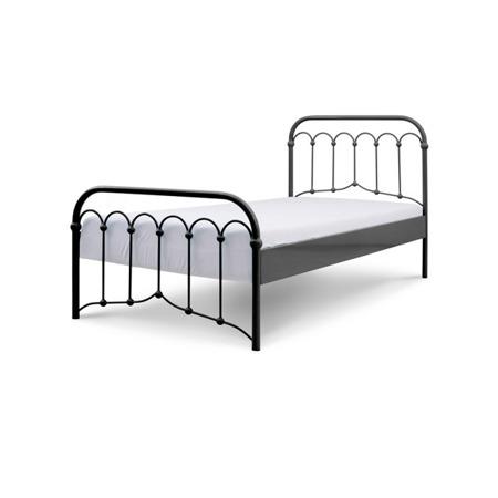 Łóżko metalowe młodzieżowe Avia 120/200 czarne