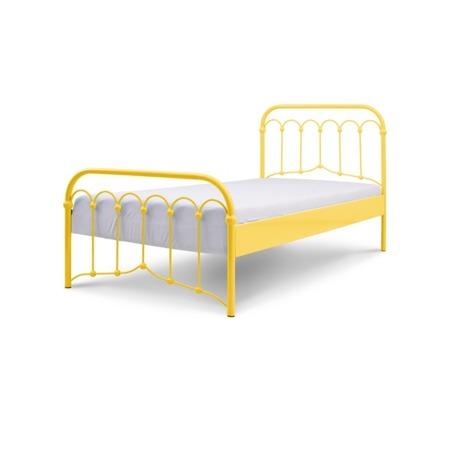 Łóżko metalowe młodzieżowe Avia 120/200 żółte