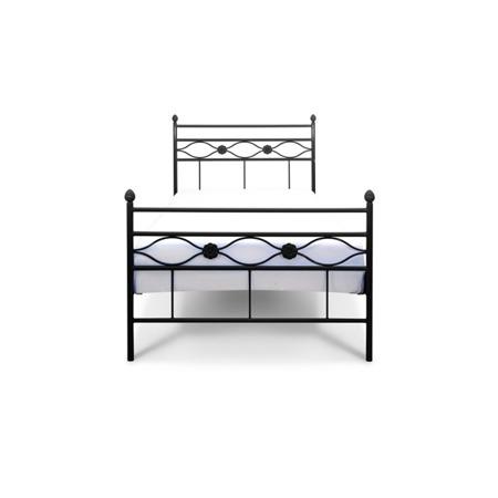 Łóżko metalowe młodzieżowe Floris 120/200 czarne
