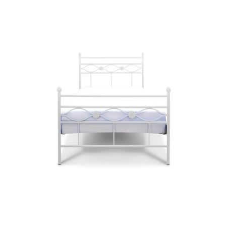 Łóżko metalowe młodzieżowe Floris 90/200 białe