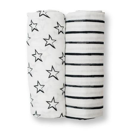 Lulujo, Kocyk bambusowy Star&Stripes 2 sztuki