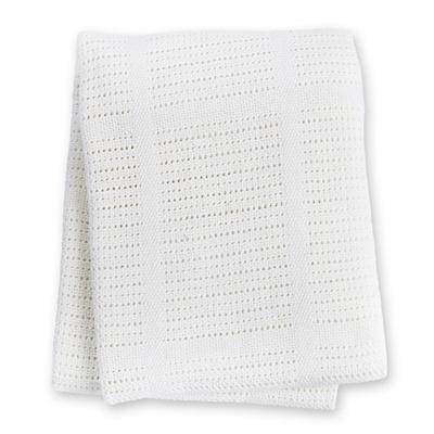 Lulujo, kocyk bawełniany tkany biały