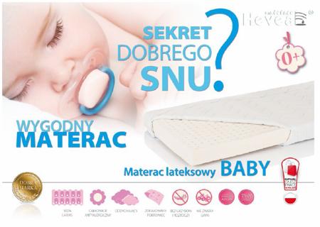 Materac lateksowy Hevea Baby 140/70 Aegis