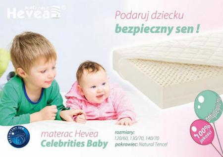 Materac lateksowy Hevea Celebrities 120/60 tencel