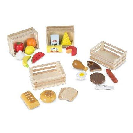 Melissa & Doug Zestaw drewnianych produktów spożywczych