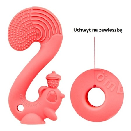 Mombella Gryzak Zabawka Squirrel Red