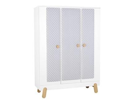 Nakładka tekstylna na szafę 3-drzwiową  Pinio Iga