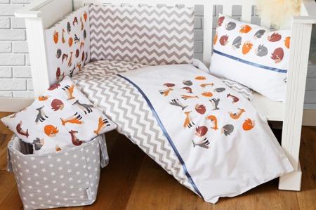Ochraniacz na połowę łóżeczka, Liski 30x180cm