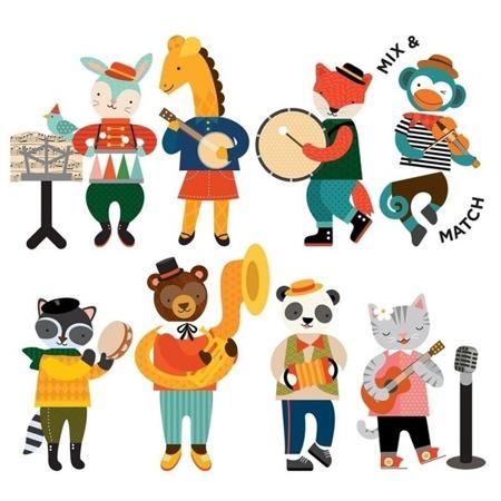 Petit Collage Magnetyczne postacie Animal Band
