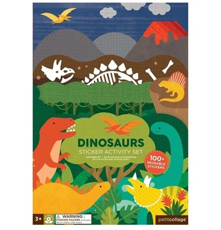 Petit Collage Naklejki wielorazowe Dinosaurs