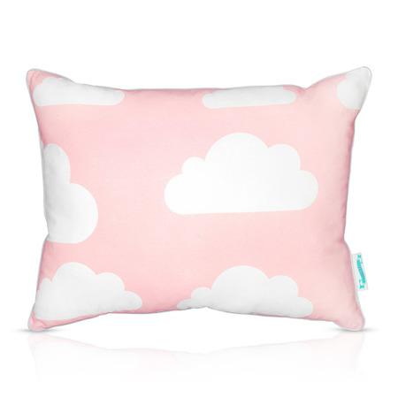 Poduszka dwustronna Chmurki Pink&Grey