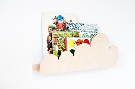 Półka Chmurka w kolorze drewna
