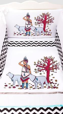 Pościel do łóżeczka 3-elementowa, Indianka 120x90cm