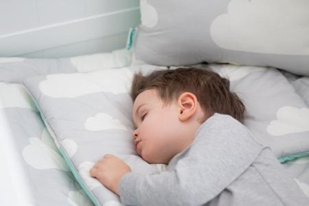 Pościel dziecięca 100 x 135cm Chmurki Mint&Grey