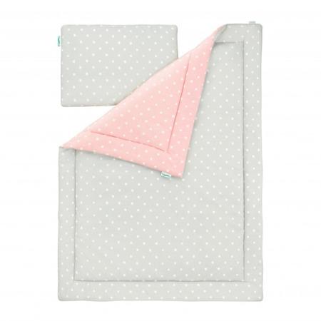 Pościel dziecięca 100 x 135cm Lovely Dots Pink&Grey