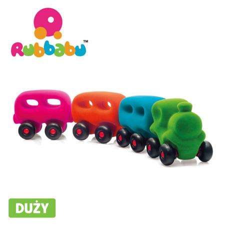 Rubbabu Pociąg z 3 magnetycznymi wagonami sensoryczny