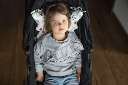 Sleepee Poduszka Antywstrząsowa Motylek Jungle Powder pink